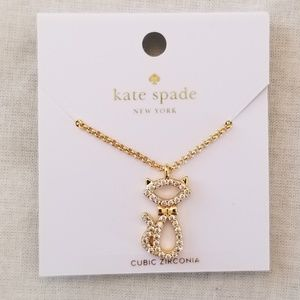 NWT Kate Spade Jazz Things Up Cat Necklace
